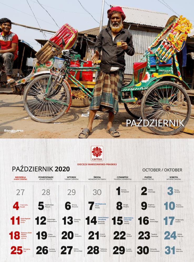 kalendarz Caritas 2020 podgląd